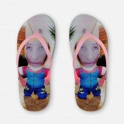 Personalised Beach Slippers with Photo