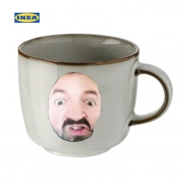 GLADELIG Mug, Gray 37 cl