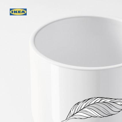 DROMSK Flower pot cover, white 9 cm