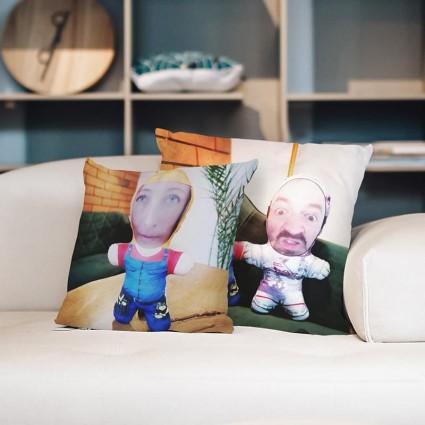 Two Photo Face Pillows
