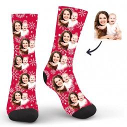 Women Custom Red Socks